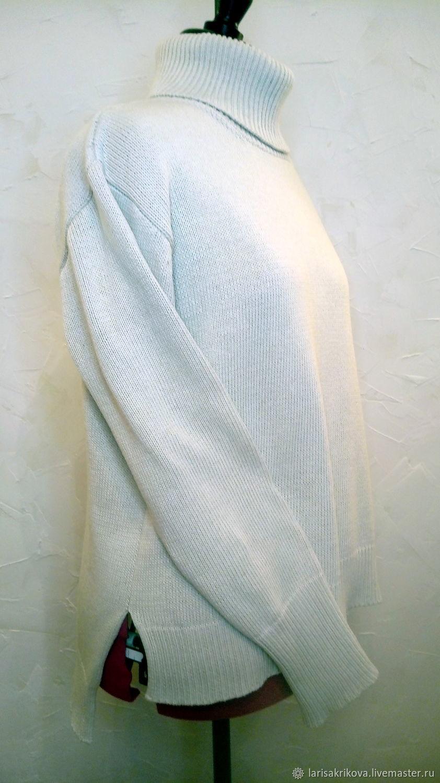 Milk-colored mixed yarn sweater, Sweaters, Verhnedneprovsky,  Фото №1