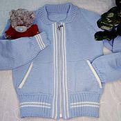 Одежда handmade. Livemaster - original item Jackets: Jacket bomber jacket knit. Handmade.