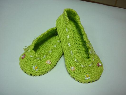 """Обувь ручной работы. Ярмарка Мастеров - ручная работа. Купить Тапочки детские """" Летняя забава"""". Handmade. Тапочки"""