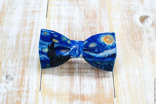 """Галстуки, бабочки ручной работы. Ярмарка Мастеров - ручная работа. Купить Галстук-бабочка """"Ван Гог""""/Van Gogh. Handmade. Бабочка"""