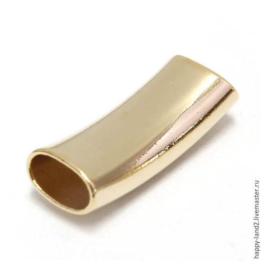 Для украшений ручной работы. Ярмарка Мастеров - ручная работа. Купить Бусина плоская 25 мм , позолота. Handmade. Золотой