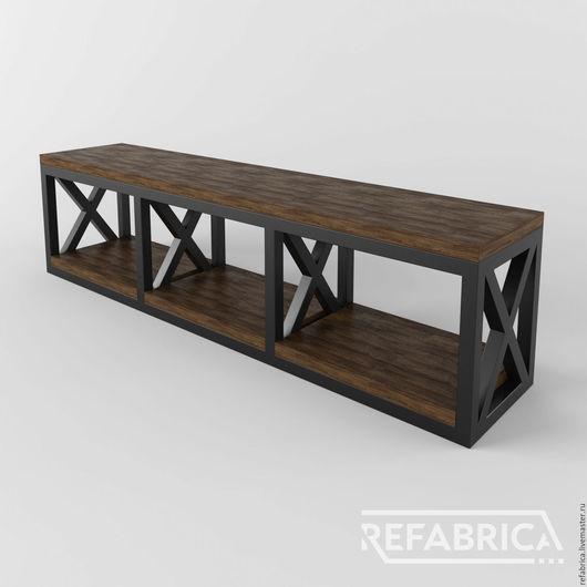 ОГАСТА – консоль для тв в стиле лофт и другая мебель в наличии и на заказ