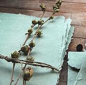 """Канцелярские товары ручной работы. Ярмарка Мастеров - ручная работа """"Silky mint"""" - конверты и бумага ручной работы. Handmade."""