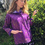 Одежда ручной работы. Ярмарка Мастеров - ручная работа Пурпурный жакет. Handmade.