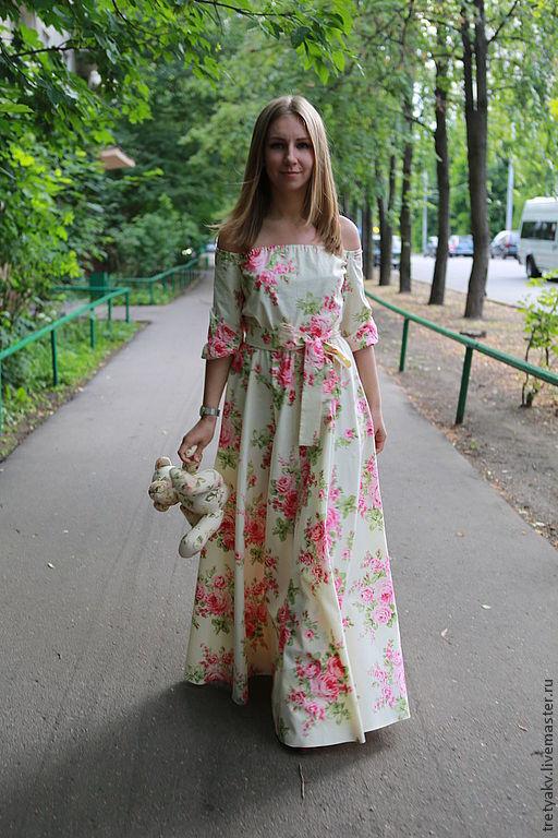 летнее платье в пол
