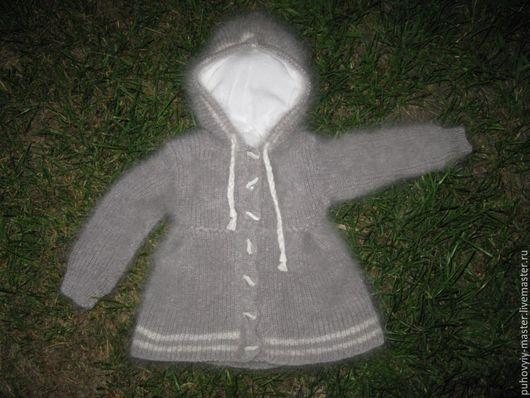 Одежда унисекс ручной работы. Ярмарка Мастеров - ручная работа. Купить Детское пуховое пальто. Handmade. Пальто вязаное