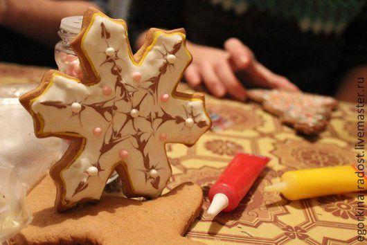Кулинарные сувениры ручной работы. Ярмарка Мастеров - ручная работа. Купить Рождественская звезда. Handmade. Пряник расписной, козуля