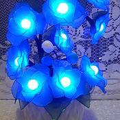 Для дома и интерьера handmade. Livemaster - original item Lamp night light flowers made of nylon. Handmade.