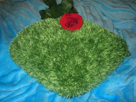 """Текстиль, ковры ручной работы. Ярмарка Мастеров - ручная работа. Купить Подушка """"Лужайка"""". Handmade. Ярко-зелёный, подушка в подарок"""