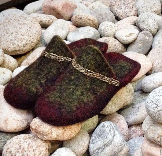 Обувь ручной работы. Ярмарка Мастеров - ручная работа. Купить Тапочки - эксцентрик. Handmade. Комбинированный, тапочки валяные, кардочес