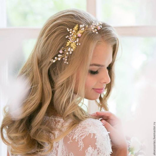 Свадебные украшения ручной работы. Ярмарка Мастеров - ручная работа. Купить Свадебный гребень для прически   Гребень свадебный в волосы. Handmade.