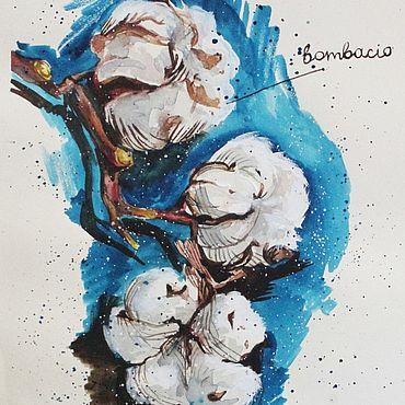 Картины и панно ручной работы. Ярмарка Мастеров - ручная работа Хлопок. Handmade.