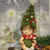 Портретная кукла ручной работы. Ярмарка Мастеров - ручная работа Малыш-ёлочка №1. Handmade.