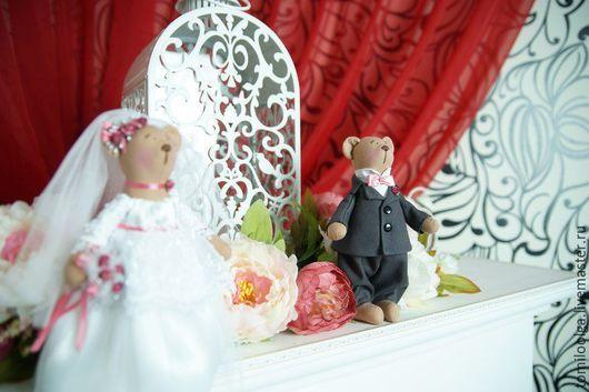 Игрушки животные, ручной работы. Ярмарка Мастеров - ручная работа. Купить Мишки свадебные. Свадебные мишки.. Handmade. Разноцветный