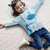 """Работы для детей, ручной работы. Ярмарка Мастеров - ручная работа Детский свитер """"Моя рыбка"""". Handmade."""