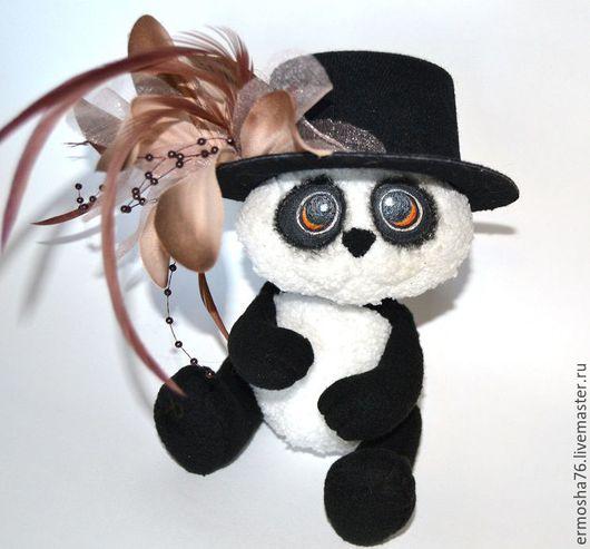 Текстильная игрушка мишка панда,ручная работа