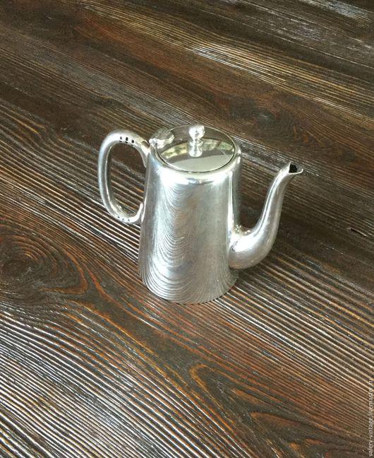 Винтажная посуда. Ярмарка Мастеров - ручная работа. Купить Винтажный чайник для горячей воды, серебрение Sheffield.. Handmade. Серебряный, к столу