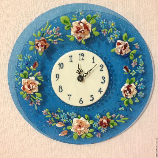 """Часы для дома ручной работы. Ярмарка Мастеров - ручная работа. Купить Часы """"Стиль Прованс""""   фьюзинг. Handmade. Часы"""