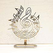 Для дома и интерьера ручной работы. Ярмарка Мастеров - ручная работа Статуэтка скрипичный ключ. Handmade.