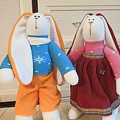Куклы и игрушки ручной работы. Ярмарка Мастеров - ручная работа Зайки Тильды из флиса.. Handmade.