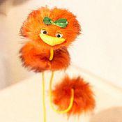 Подарочные боксы ручной работы. Ярмарка Мастеров - ручная работа Подарок ребенку  страус-марионетка Апельсинка. Handmade.