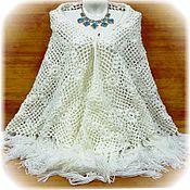 Аксессуары handmade. Livemaster - original item Shawl Magnolia 210x170x170 knit (R-R sides, excluding brushes). Handmade.