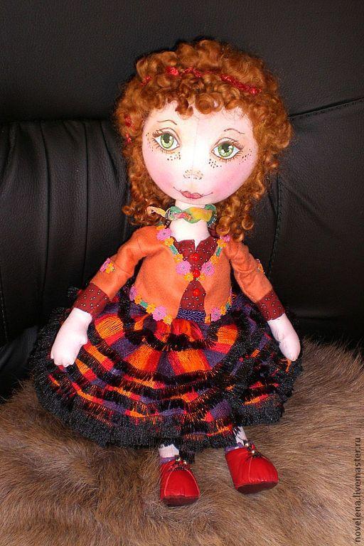 Куклы тыквоголовки ручной работы. Ярмарка Мастеров - ручная работа. Купить Подсолнушка (кукла текстильная). Handmade. Кукла ручной работы