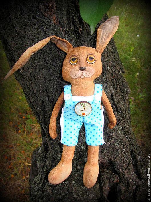 Ароматизированные куклы ручной работы. Ярмарка Мастеров - ручная работа. Купить Зайчишка. Handmade. Коричневый, зайка, зайчонок, хлопок, полиэстер