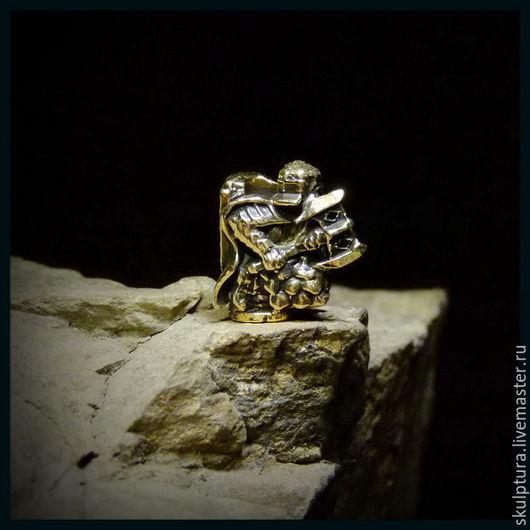"""Для украшений ручной работы. Ярмарка Мастеров - ручная работа. Купить Бусина """"Гном Эребора"""" для темляков или браслетов. Handmade."""