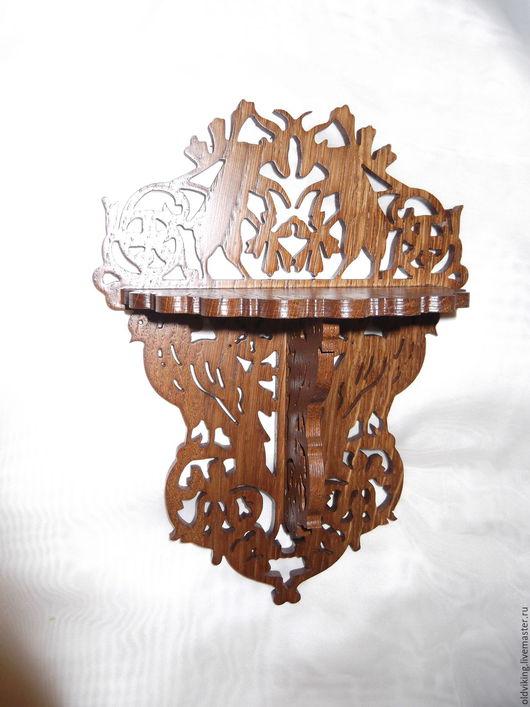 """Мебель ручной работы. Ярмарка Мастеров - ручная работа. Купить Полка """"Охота"""". Handmade. Комбинированный, полка из дерева, охота"""