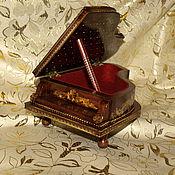 Для дома и интерьера ручной работы. Ярмарка Мастеров - ручная работа Шкатулка для украшений Старинный рояль. Антикварное пианино. Подарок. Handmade.