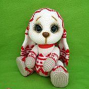 Куклы и игрушки ручной работы. Ярмарка Мастеров - ручная работа Жаккардовый зайка. Handmade.