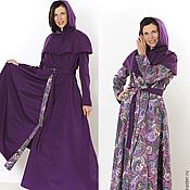 Одежда ручной работы. Ярмарка Мастеров - ручная работа Плащ двухсторонний фиолетовый. Handmade.