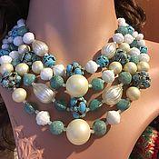Винтаж handmade. Livemaster - original item Original by Robert Vintage set: necklace and clip earrings, USA. Handmade.