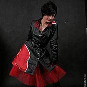 Одежда ручной работы. Ярмарка Мастеров - ручная работа Плащ стиллизация под плащ-акацуки с юбкой-сеткой.. Handmade.
