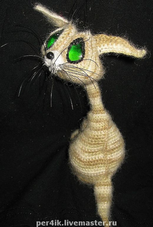 Игрушки животные, ручной работы. Ярмарка Мастеров - ручная работа. Купить ГрустноКот. Handmade. Кот, полосатый кот, грустный