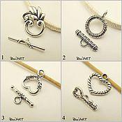 Материалы для творчества handmade. Livemaster - original item Toggle. Lock for jewelry Art.ZU08. Handmade.