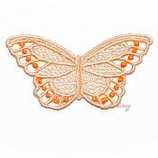 Материалы для творчества handmade. Livemaster - original item Embroidery applique colorful butterfly lace openwork FSL free. Handmade.