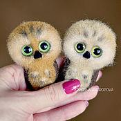 handmade. Livemaster - original item Felted Owl brooch. Handmade.