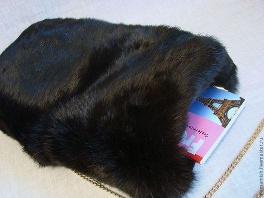 Варежки, митенки, перчатки ручной работы. Ярмарка Мастеров - ручная работа. Купить Муфта черная. Handmade. Муфта, кролик рекс