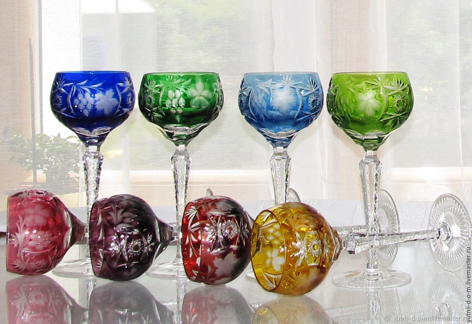 Glasses wine Germany crystal Nachtmann nachtmann grapes, Vintage glasses, Moscow,  Фото №1