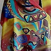 """Аксессуары ручной работы. Ярмарка Мастеров - ручная работа Шарф """"Узорчатые камни"""". Handmade."""