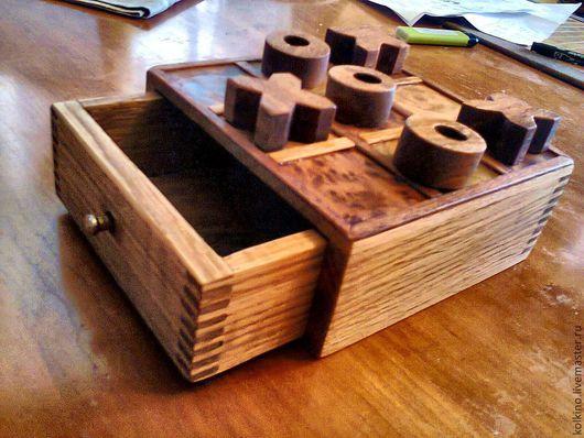 Развивающие игрушки ручной работы. Ярмарка Мастеров - ручная работа. Купить Крестики-нолики. Handmade. Оранжевый, пиленный шпон дуба