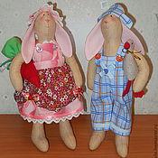 """Куклы и игрушки ручной работы. Ярмарка Мастеров - ручная работа """"Сладкая парочка"""" для Элеоноры. Кролики Тильды. Handmade."""