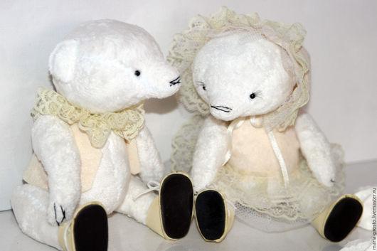 Мишки Тедди ручной работы. Ярмарка Мастеров - ручная работа. Купить Тедди пара. Handmade. Белый, мишка-тедди