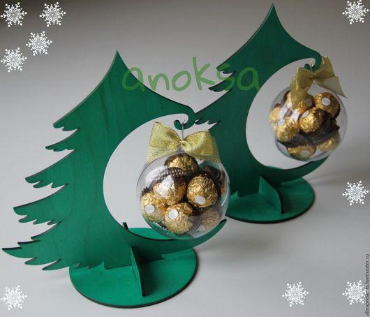 Новый год 2017 ручной работы. Ярмарка Мастеров - ручная работа. Купить новогодняя елочка с конфетами. Handmade. Зеленый, подарок на новый год