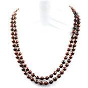 Украшения handmade. Livemaster - original item Long beads natural mahogany obsidian. Handmade.