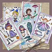 Куклы и игрушки handmade. Livemaster - original item Paper fairy dolls. Handmade.