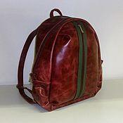 Сумки и аксессуары handmade. Livemaster - original item Backpack leather Burgundy. Handmade.