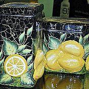 """Для дома и интерьера ручной работы. Ярмарка Мастеров - ручная работа Баночки """"Лимонные"""". Handmade."""